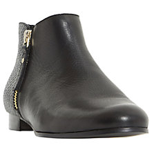 Buy Dune Panders Block Heeled Ankle Boots, Black Online at johnlewis.com