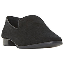 Buy Dune Gafney Pointed Toe Loafers, Black Online at johnlewis.com