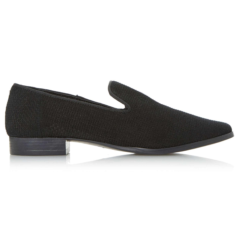 BuyDune Gafney Pointed Toe Loafers, Black, 3 Online at johnlewis.com ...