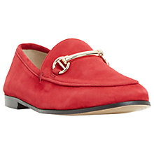 Buy Dune Guilt Loafers, Red Suede Online at johnlewis.com