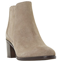 Buy Dune Peter Block Heeled Ankle Boots, Taupe Online at johnlewis.com