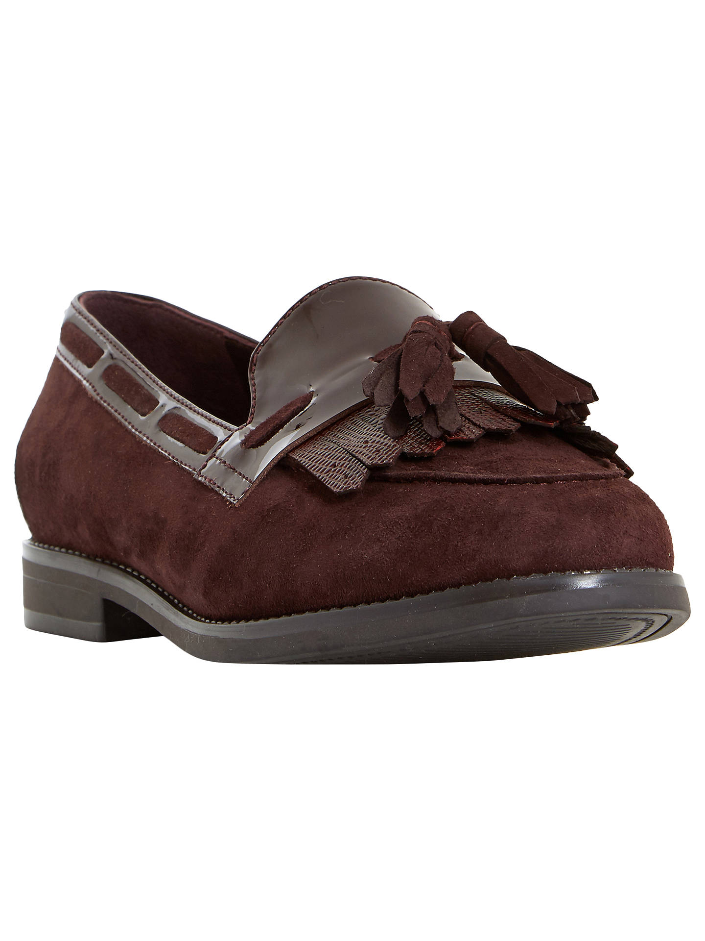 5f18384be Buy Dune Wide Fit Goodness Loafers, Burgundy, 5 Online at johnlewis.com ...
