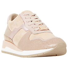 Buy Dune Elena Lace Up Trainers, Blush Online at johnlewis.com