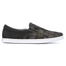 Buy Mint Velvet Alice Slip On Trainers, Black Online at johnlewis.com