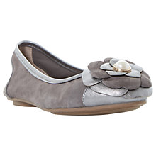 Buy Dune Hyacinth Flower Ballet Pumps, Pewter Online at johnlewis.com