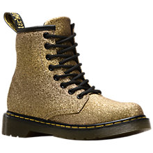Buy Dr Martens Delaney Boots, Gold Glitter Online at johnlewis.com