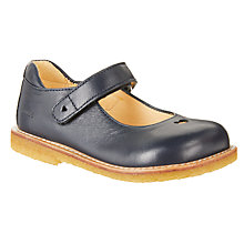 Buy ANGULUS Children's Heart Mary Jane Shoes, Navy Online at johnlewis.com