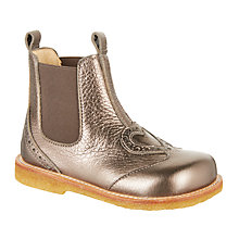Buy ANGULUS Children's Heart Chelsea Boots, Pewter Online at johnlewis.com