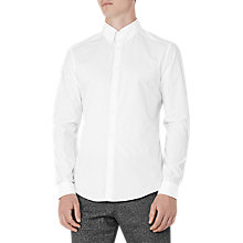 Buy Reiss Steel Slim Fit Cotton Shirt, White Online at johnlewis.com
