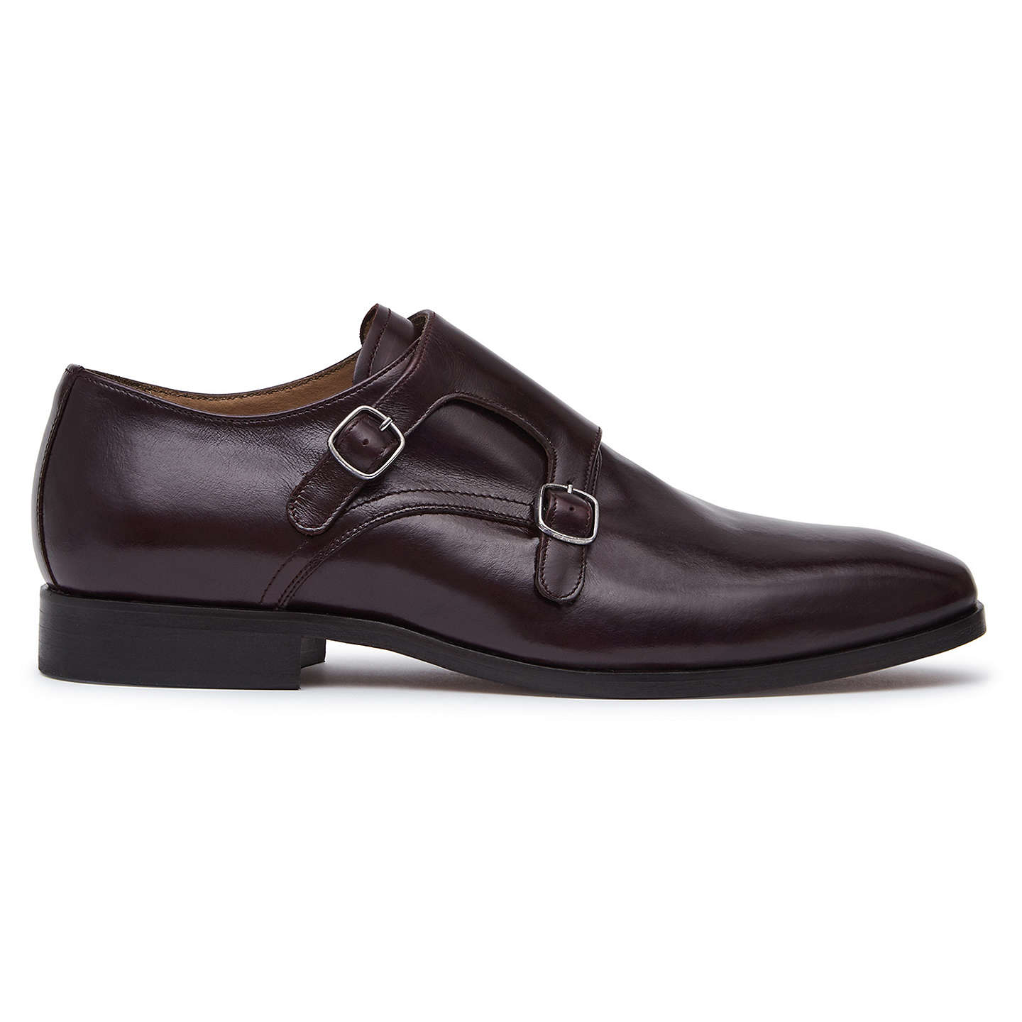 Filmore - Double Monk Strap Shoes in Black, Mens, Size 10 Reiss