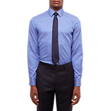 Buy Jaeger Cotton Bold Thin Stripe Regular Fit Shirt, Blue Online at johnlewis.com