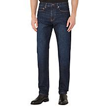 Buy Reiss Zorla Cotton Denim Straight Jeans, Mid Blue Online at johnlewis.com