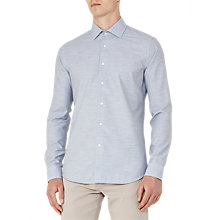 Buy Reiss Stefan Melange Weave Slim Fit Shirt, Blue Marl Online at johnlewis.com