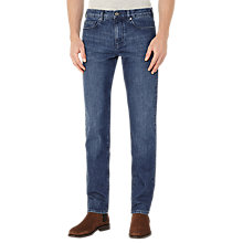 Buy Reiss Barnacle Cotton Twill Slim Jeans, Mid Blue Online at johnlewis.com