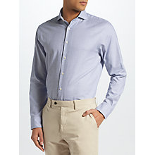 Buy John Lewis Semi Plain Tailored Fit Shirt, Blue Online at johnlewis.com
