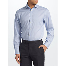 Buy John Lewis Non Iron Bengal Stripe Regular Fit Shirt, Blue Online at johnlewis.com