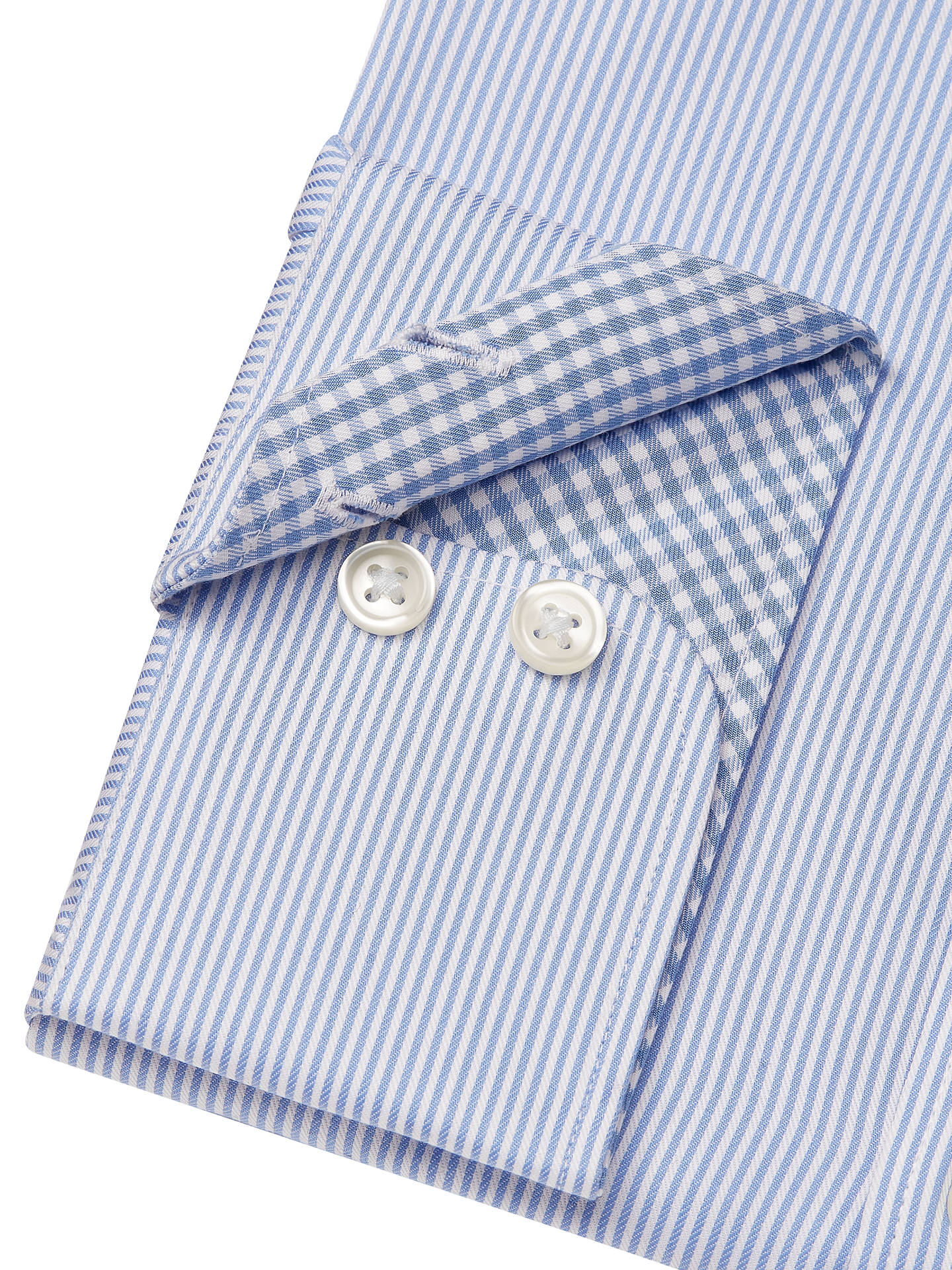 BuyJohn Lewis & Partners Non Iron Bengal Stripe Regular Fit Shirt, Blue, 15 Online at johnlewis.com