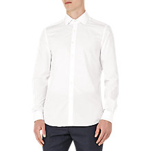 Buy Reiss Riviere Stripe Cotton Slim Fit Shirt, White Online at johnlewis.com