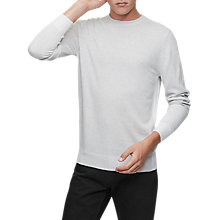 Buy Reiss Melville Knit Jumper, Soft Grey Online at johnlewis.com