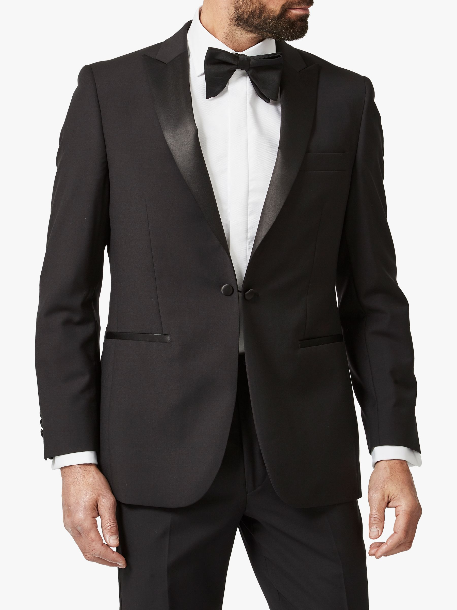 Chester by Chester Barrie Chester by Chester Barrie Wool Mohair Slim Fit Dress Suit Jacket, Black