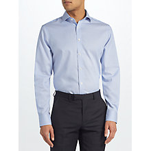 Buy John Lewis Non Iron Bengal Stripe Tailored Fit Shirt, Blue Online at johnlewis.com