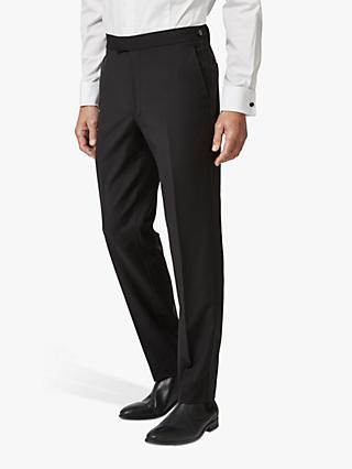Chester by Chester Barrie Wool Mohair Slim Fit Dress Suit Trousers, Black