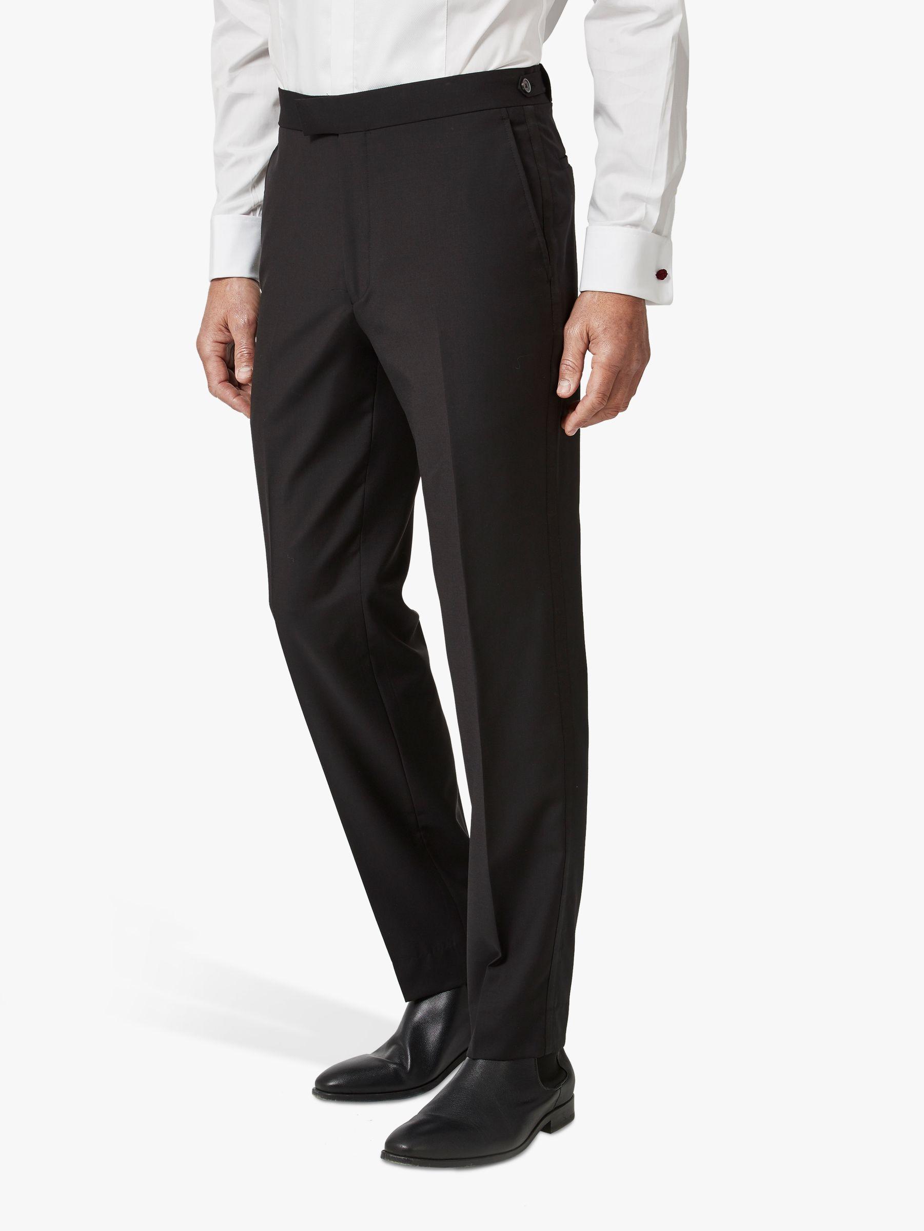 Chester by Chester Barrie Chester by Chester Barrie Wool Mohair Slim Fit Dress Suit Trousers, Black