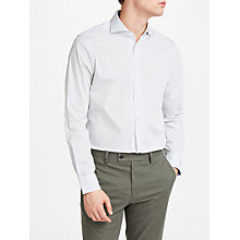 Buy John Lewis Print Tailored Fit Shirt, Ecru Online at johnlewis.com