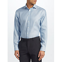 Buy John Lewis Non Iron Semi Plain Regular Fit Shirt, Aqua Online at johnlewis.com