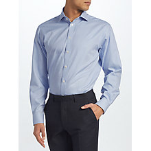 Buy John Lewis Non Iron Gingham XL Sleeve Regular Fit, Blue Online at johnlewis.com