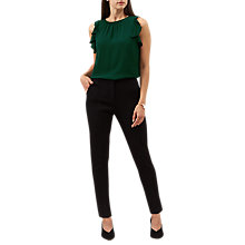 Buy Hobbs Gabi Trousers, Black Online at johnlewis.com