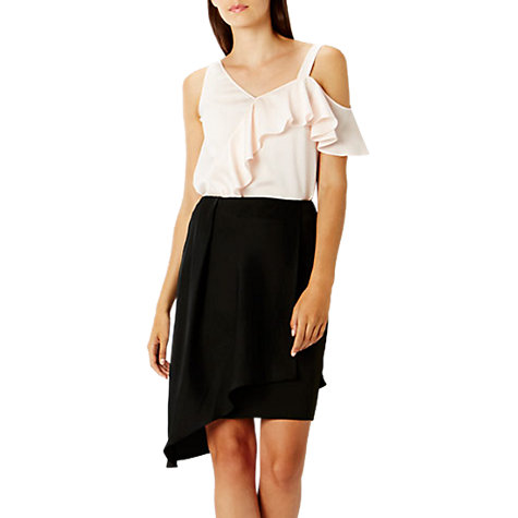 Buy Coast Mindi Overlay Skirt, Black Online at johnlewis.com