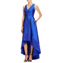 Buy Adrianna Papell Mikado High-Low Hem Ball Gown, Sapphire Online at johnlewis.com