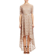 Buy Adrianna Papell High-Low Lace Dress, Antique Bronze Online at johnlewis.com