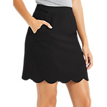 Buy Oasis Scallop Pocket Skirt, Black Online at johnlewis.com