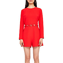 Buy Ted Baker Tanzii Cut Out Waist Playsuit, Bright Red Online at johnlewis.com