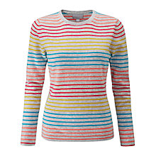Buy Pure Collection Striped Crew Neck Cashmere Jumper, Colour Pop Stripe Online at johnlewis.com