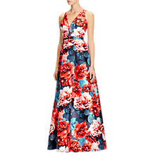Buy Adrianna Papell Jacquard Ball Gown, Coral/Multi Online at johnlewis.com