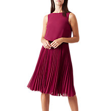 Buy Hobbs Tabitha Dress, Dark Magenta Online at johnlewis.com