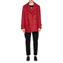 Buy French Connection Platform Felt Long Sleeve Pea Coat, Cranberry Crunch Online at johnlewis.com