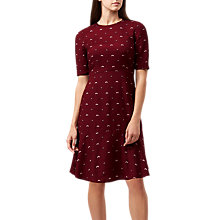 Buy Hobbs Elle Dress, Burgundy Online at johnlewis.com