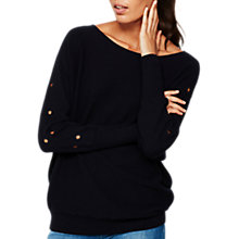 Buy Mint Velvet Eyelet Bat Wing Sleeve Jumper, Dark Blue Online at johnlewis.com