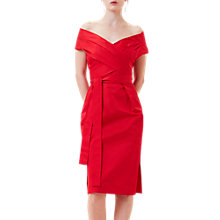 Buy Finery Linnell Off The Shoulder Dress, Bright Red Online at johnlewis.com