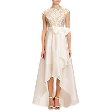 Buy Adrianna Papell Emblem Embroidered Ball Gown, Ivory/Nude Online at johnlewis.com