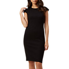 Buy Hobbs Helena Pique Dress, Black Online at johnlewis.com