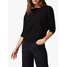 Buy Phase Eight Cristine Batwing Knitted Jumper, Black Online at johnlewis.com