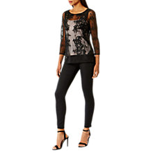 Buy Coast Foxita Lace Mesh Top, Black Online at johnlewis.com