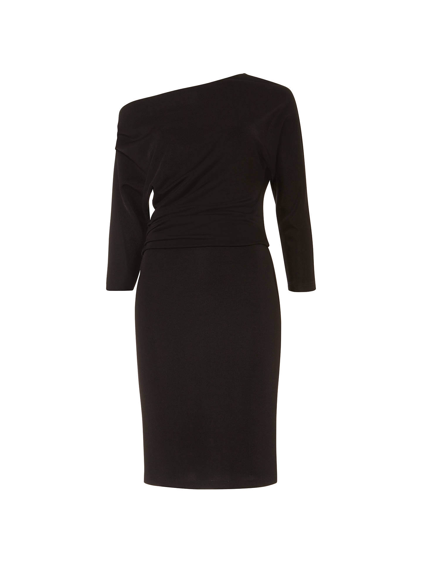 BuyDamsel in a Dress Willow Asymmetric Neckline Pencil Dress, Black, 8 Online at johnlewis.com