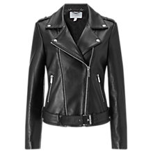 Buy Jigsaw Premium Leather Jacket, Black Online at johnlewis.com