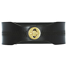 Buy Karen Millen Perforated Turn Clasp Belt, Black Online at johnlewis.com